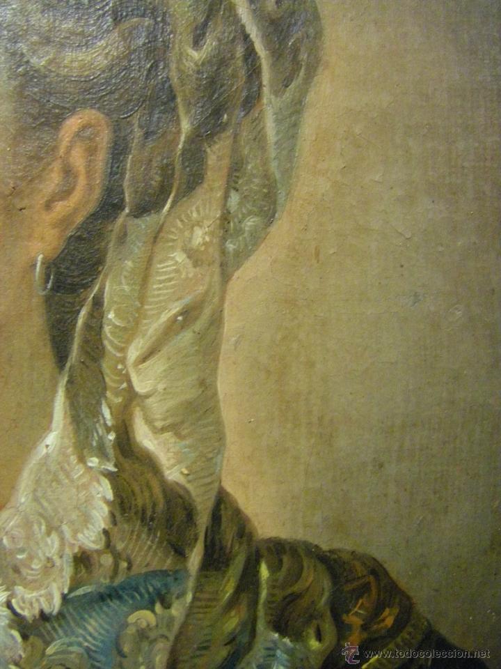 Arte: óleo de mujer imitando a la Inmaculada Concepción, posiblemente escuela valenciana siglo XVIII - Foto 12 - 52666529
