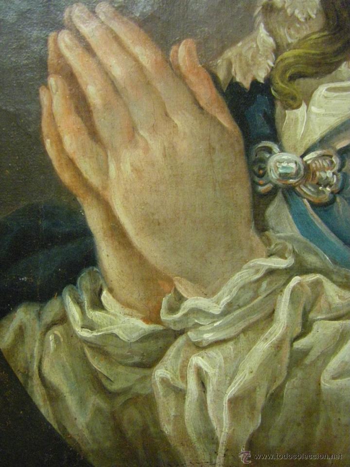 Arte: óleo de mujer imitando a la Inmaculada Concepción, posiblemente escuela valenciana siglo XVIII - Foto 15 - 52666529