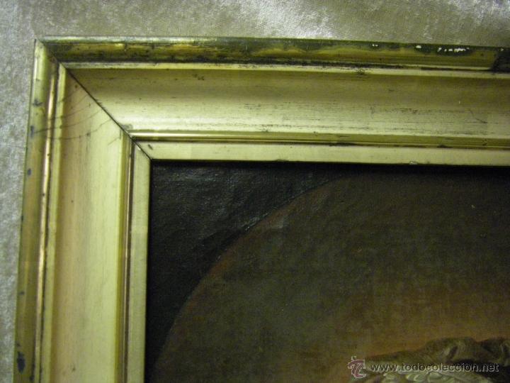 Arte: óleo de mujer imitando a la Inmaculada Concepción, posiblemente escuela valenciana siglo XVIII - Foto 19 - 52666529