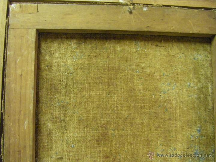 Arte: óleo de mujer imitando a la Inmaculada Concepción, posiblemente escuela valenciana siglo XVIII - Foto 21 - 52666529
