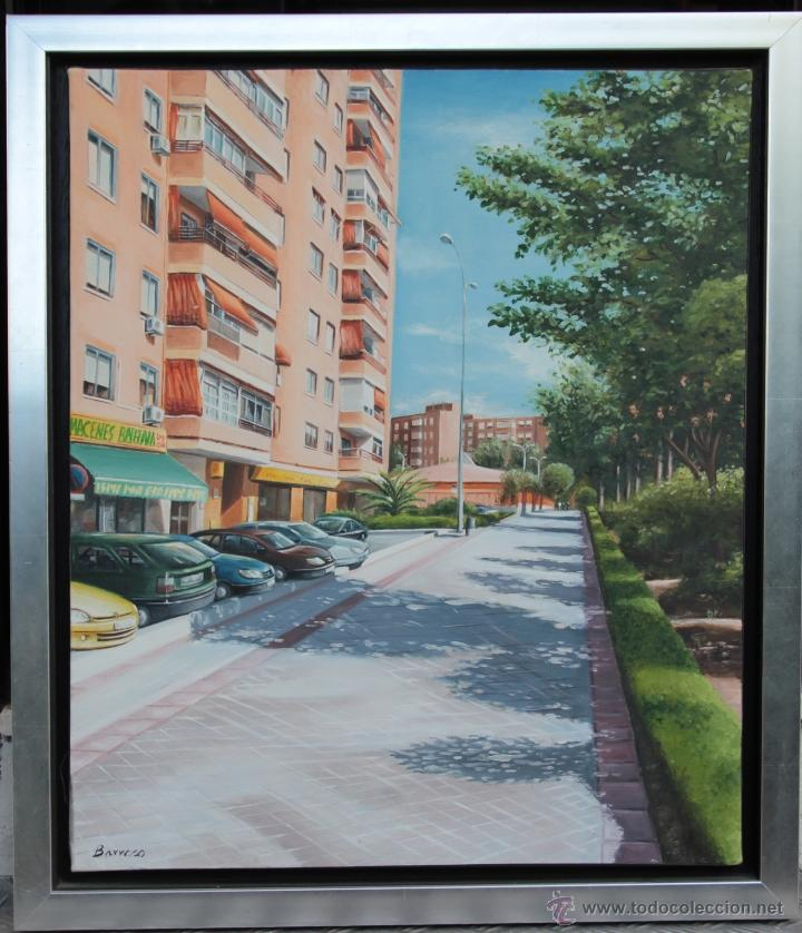 PAISAJE URBANO FUENLABRADA - BARROSO (Arte - Pintura - Pintura al Óleo Moderna siglo XIX)