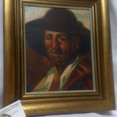 Kunst - .- VAQUERO 77.- OLEO SOBRE LIENZO, -CAMPESINO.- FIRMADO Y FECHADO. - 52696863