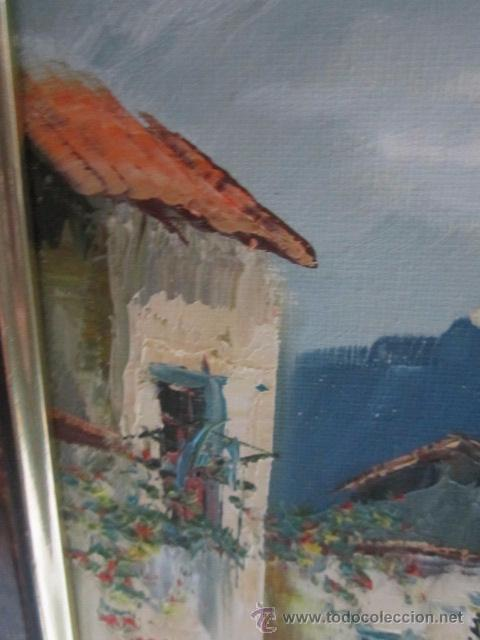 Arte: Óleo sobre lienzo - Paisaje- firma del autor. - Foto 4 - 52727915