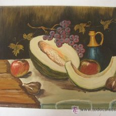 Arte: BODEGÓN, OLEO SOBRE CARTULINA- SIN FIRMA - MIDE 30 X 40 CM. VER FOTOS.. Lote 52736313
