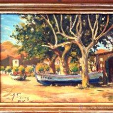 Arte: ÓLEO SOBRE TABLA.ESCUELA VALENCIANA.FIRMADO J.PONS 1946.BUEN TRAZO. Lote 52754801