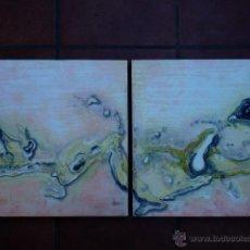 Arte: 2 ÓLEOS ABSTRACTOS.ANÓNIMO.. Lote 52805718