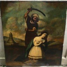 Arte: ANÓNIMO ALTO PERÚ (XVIII) - ÓLEO SOBRE TELA - SANTA BARBARA (REENTELADO). Lote 52850982