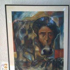 Arte: GRAN CUADRO PINTADO AL OLEO SOBRE TABLEX- FIRMADO CHACON 96 - ENMARCADO CON CRISTAL - VER FOTOS. Lote 52852136