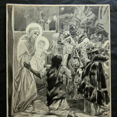 Arte: FRANZ GAILLIARD (BÉLGICA, 1861-1932) - NACIMIENTO / BELEN. Lote 52954565