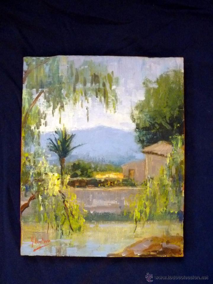MAGNIFICA PINTURA AL OLEO PAISAJE PRESTIGIOSO AUTOR CANTERO TAPIA (Arte - Pintura - Pintura al Óleo Moderna sin fecha definida)