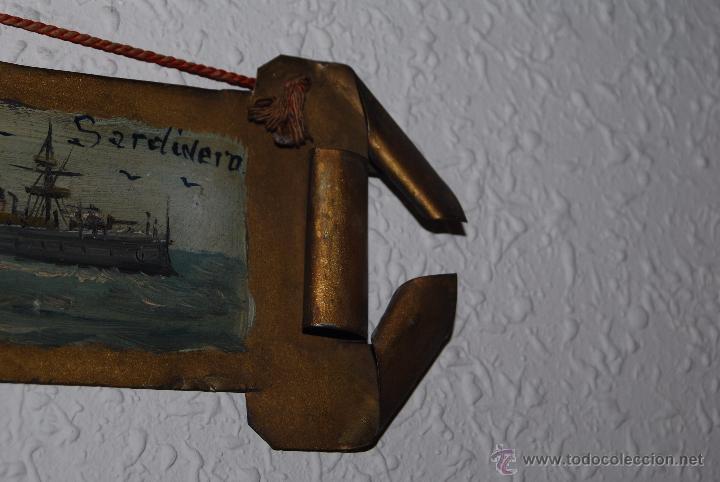 Arte: PEQUEÑO ÓLEO SOBRE LATÓN - RECUERDO DE EL SARDINERO - SANTANDER - CANTABRIA - BARCO - PP S.XX - Foto 5 - 52970890