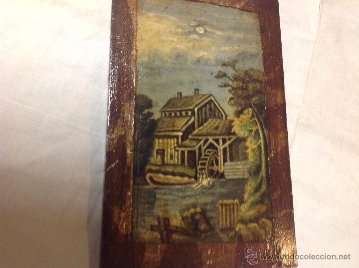 Arte: oleo sobre tabla casa con molino - Foto 3 - 52978684