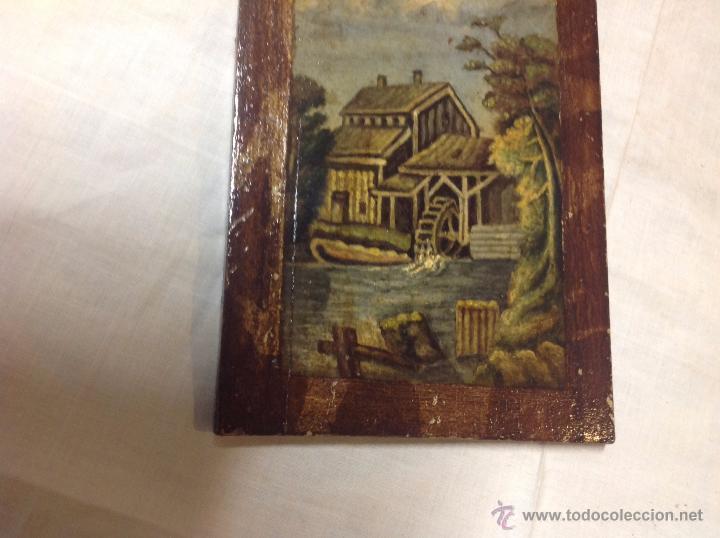 Arte: oleo sobre tabla casa con molino - Foto 12 - 52978684