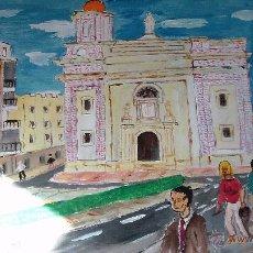 Arte: ALMERÍA ,IGLESIA DE SAN SEBASTIÁN, ÓLEO SOBRE LIENZO EN BASTIDOR DE 40X50 CM. DE CRESPO. Lote 52986218