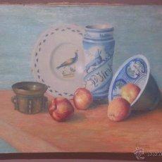 Arte: ANTIGUO OLEO SOBRE TELA, SIN RESTAURAR, BASTIDOR ORIGINAL, POSIBLEMENTE DEL 1889, FIRMADO.. Lote 53021444