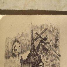 Arte: SEMANA SANTA DE ALICANTE JESÚS DEL GRAN PODER - DIBUJO ORIGINAL - TAL FOTO. Lote 53053704