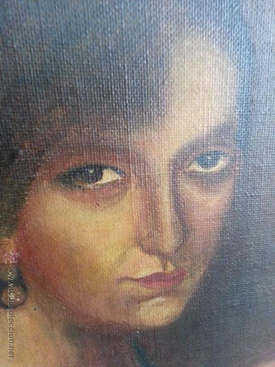 Arte: PINTURA OLEO SOBRE TABLA JULIO ROMERO DE TORRES COPIA DE SU OBRA - POR MARIÑAS - MARCO MADERA DORADA - Foto 5 - 53059397