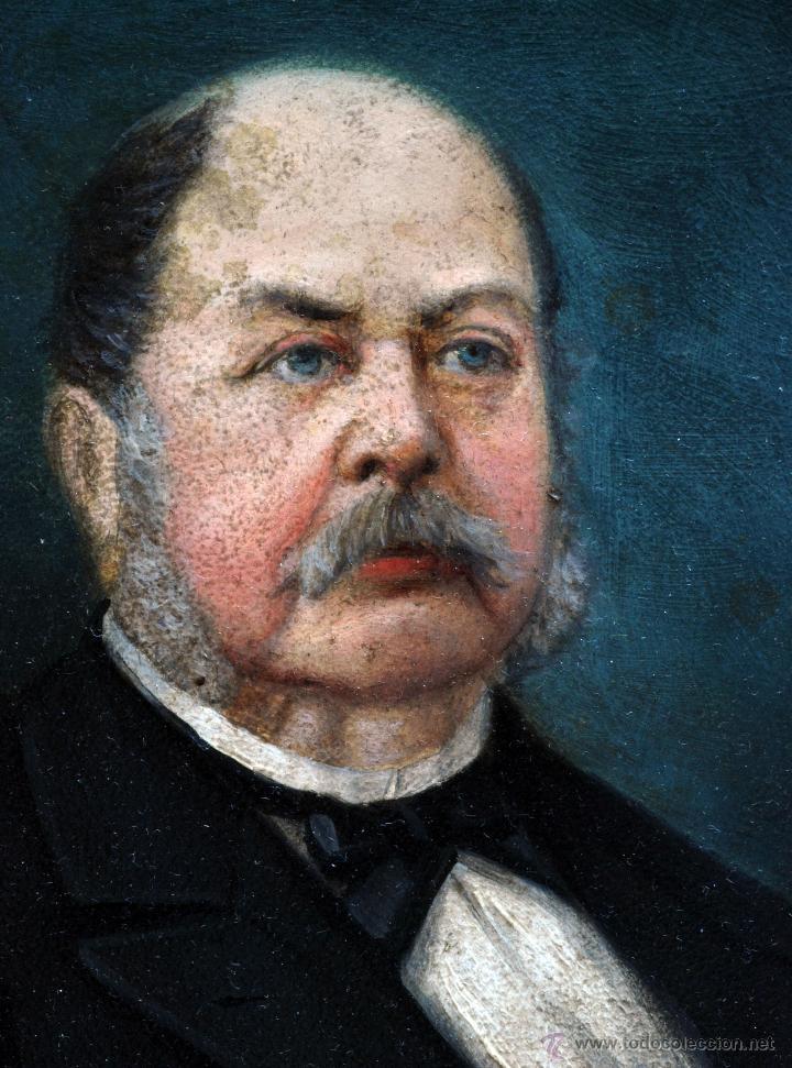 Arte: Pareja óleo sobre tabla retratos victorianos caballero y dama con marco época madera dorada S XIX - Foto 4 - 53120423