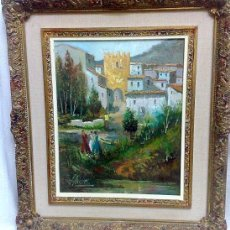 Arte: OLEO SOBRE LIENZO,.- PAISAJE.-, FIRMADO.. Lote 28879386