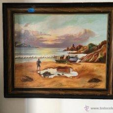Arte: BARCOS EN LA PLAYA. SHIP ON THE BEACH.. Lote 53138928