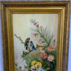 Arte: AÑO 1889 .-PRECIOSO Y ROMANTICO OLEO/TABLA. FIRMADO DIEZ Y FECHADO 89. Lote 28900566