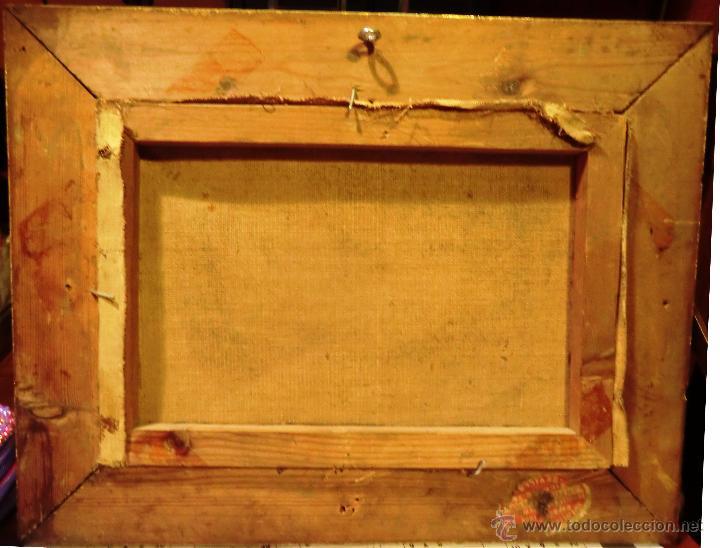 Arte: Óleo sobre lienzo finales del XIX o principios del XX. Posible jardín Alcázar Sevilla. Anónimo - Foto 2 - 53187512