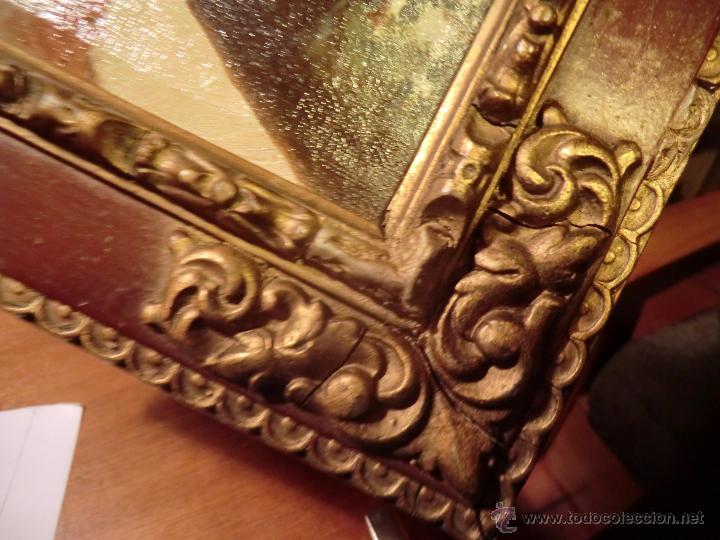 Arte: Óleo sobre lienzo finales del XIX o principios del XX. Posible jardín Alcázar Sevilla. Anónimo - Foto 4 - 53187512