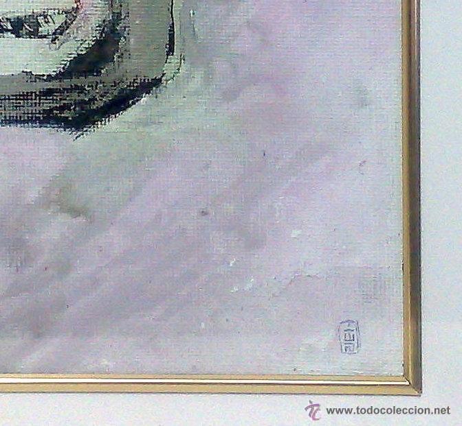 Arte: .-REGRESO.- FECHADO 80, Y FIRMADO. OLEO/LIENZO, ENMARCADO. - Foto 7 - 166952181
