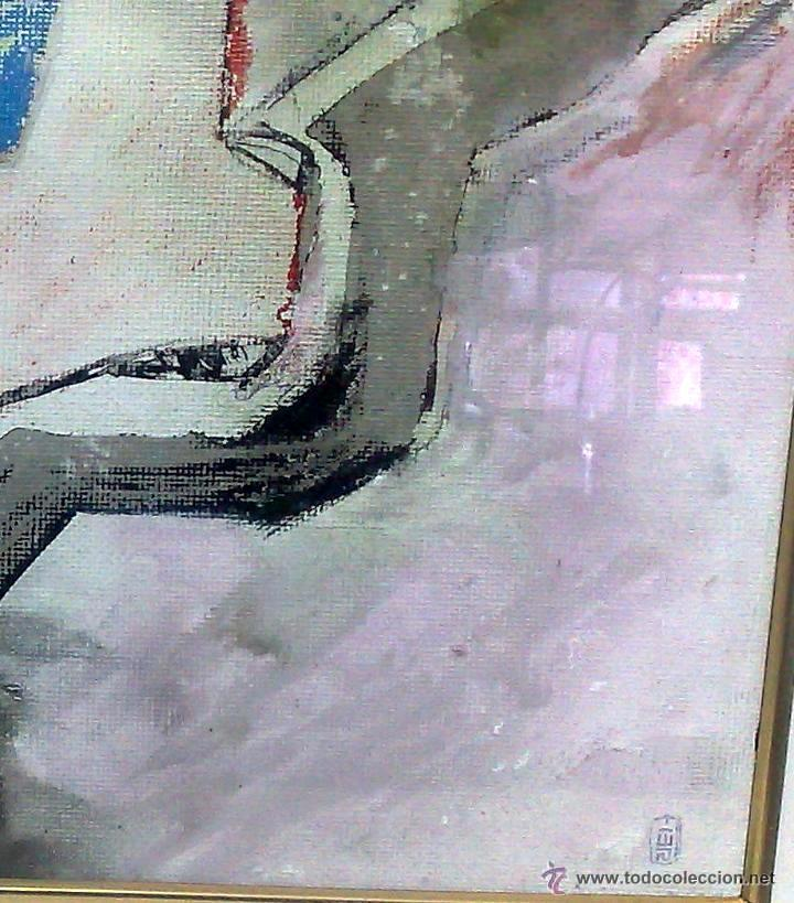 Arte: .-REGRESO.- FECHADO 80, Y FIRMADO. OLEO/LIENZO, ENMARCADO. - Foto 8 - 166952181