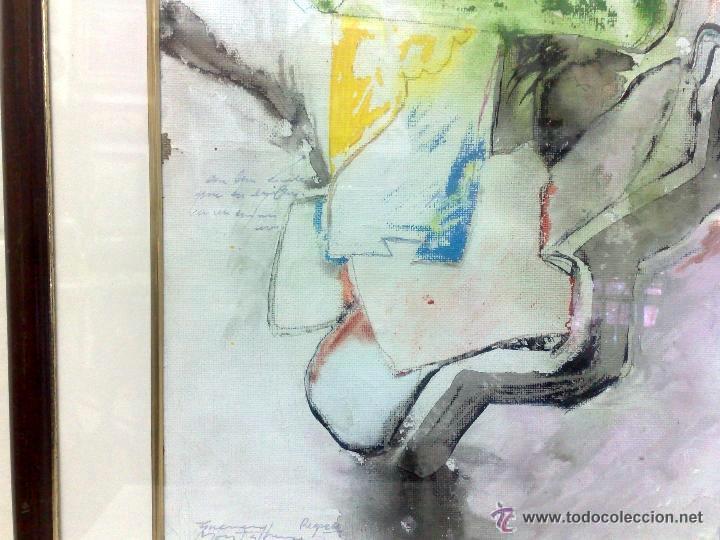 Arte: .-REGRESO.- FECHADO 80, Y FIRMADO. OLEO/LIENZO, ENMARCADO. - Foto 10 - 166952181