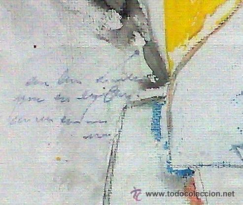 Arte: .-REGRESO.- FECHADO 80, Y FIRMADO. OLEO/LIENZO, ENMARCADO. - Foto 14 - 166952181
