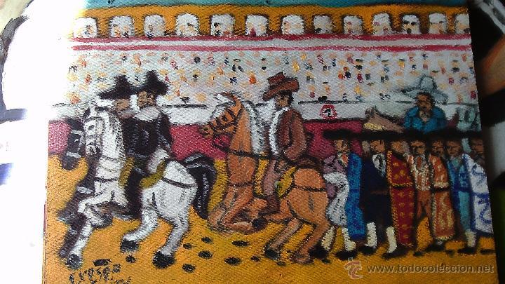PASEILLO.ÓLEO SOBRE MADERA DE RECICLADA 30X40 CM. DE CRESPO (Arte - Pintura Directa del Autor)