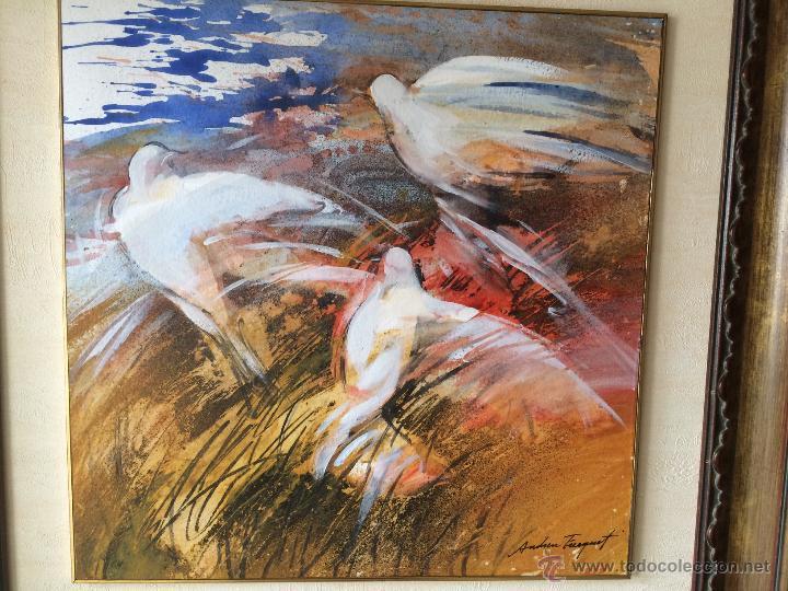 Arte: Andreu Fresquet oleo sobre papel - Foto 2 - 53268268