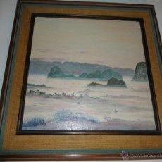 Arte: CUADRO PINTURA ASIATICA AÑOS 50 ..60 PAISAJE. Lote 53356181