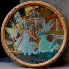 Arte: PERE CASAS ABARCA (1875-1958) NINFAS EN UNA FUENTE, 1900'S APROX. ÓLEO SOBRE MADERA OVALADO. Lote 53412924