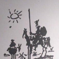 Arte: DON QUIJOTE Y SANCHO EN LA MANCHA - RECREACIÓN DEL DIBUJO PICASSO ORIGINAL EN TINTA NEGRA ROTULADOR. Lote 53441354