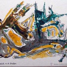 Arte: OLEO ORIGINAL FIRMADO POR SIEGFRIED REICH AN DER STOLPE 1993. Lote 53476716