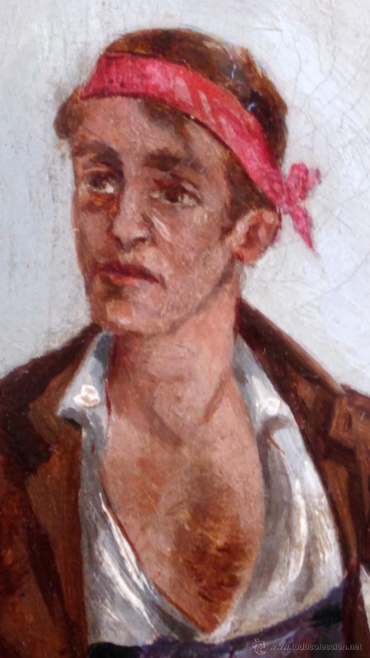 Arte: PINTURA ESPAÑOLA,OLEO SIGLO XIX,AÑO 1884,FIRMA S.VICENS,CAMPESINO-LABRADOR,CON CESTA DE NARANJAS - Foto 2 - 45770574