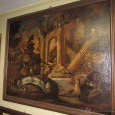 Arte: ESPECTACULAR OLEO SOBRE LIENZO TEMA PÁJAROS - PINTURA VALENCIANA - VALENCIA SIGLO XVII. Lote 53533368