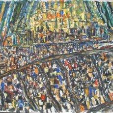 Arte: CLAUDE JOUHANNEAU: BAILE, 1978 / ÓLEO SOBRE PAPEL. Lote 53611692