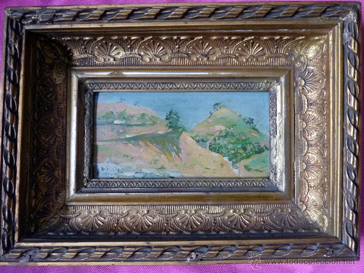 MAGNIFICA PINTURA PAISAJE MALAGUEÑO DEL PRESTIGIOSO PINTOR FEDERICO FERRANDIZ (Arte - Pintura - Pintura al Óleo Moderna siglo XIX)