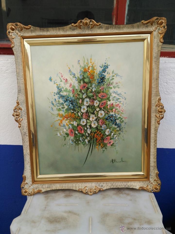 pintura al oleo de ramo de flores con firma, co - Comprar Pintura al ...