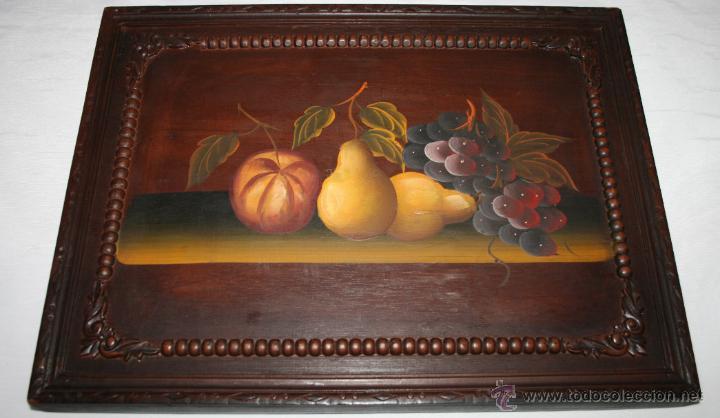Pintura vintage bodegon pintado sobre madera e comprar - Pinturas para pintar madera ...