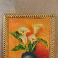 Arte: OLEO ORIGINAL FIRMADO SOBRE TABLE. Lote 53670501