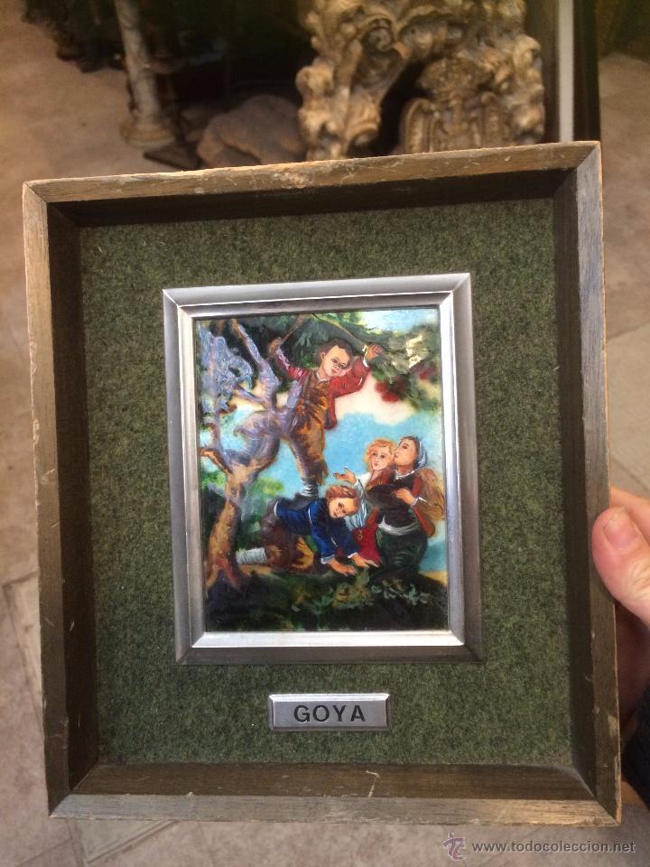 2 ESCENAS DE GOYA EN ESMALTE Y PLATA (Arte - Pintura - Pintura al Óleo Antigua sin fecha definida)