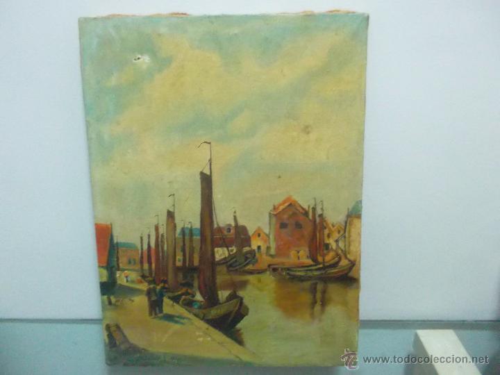 Arte: bonita pintura de una marina antigua siglo 18 o 19 - Foto 2 - 53735903