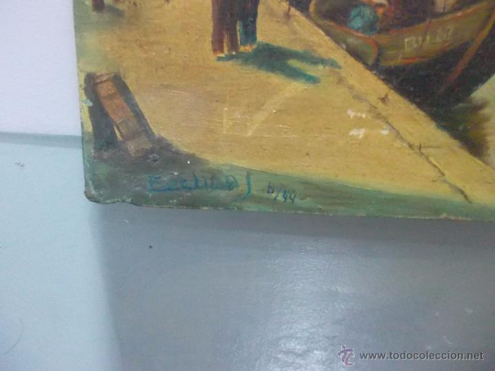 Arte: bonita pintura de una marina antigua siglo 18 o 19 - Foto 3 - 53735903