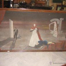 Arte: PINTURA ABSTRACTA, OLEO SOBRE LIENZO DE 1951. Lote 53752068