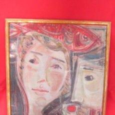 Arte: EL ALMUERZO. MIGUEL DIAZ ORTS. PINTURA AL ÓLEO SOBRE LIENZO, ENMARCADA.. Lote 53765918