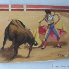 Arte: PINTURA OLEO FIRMADO GIL TEMA TAURINA. Lote 53773760